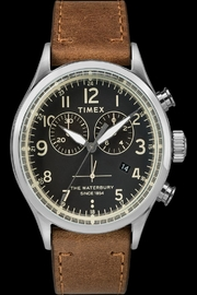 timex Waterbury Chrono Watch - Front cropped
