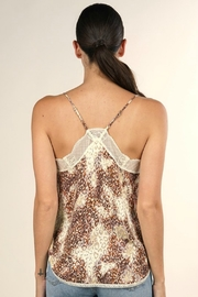 Lovestitch WATERCOLOR ANIMAL PRINT CAMI - Back cropped
