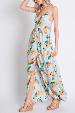 Lyn-Maree's  Watercolor Backless Maxi - Alternate List Image