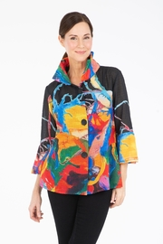 Damee Watercolor Chiffon Jacket - Front cropped
