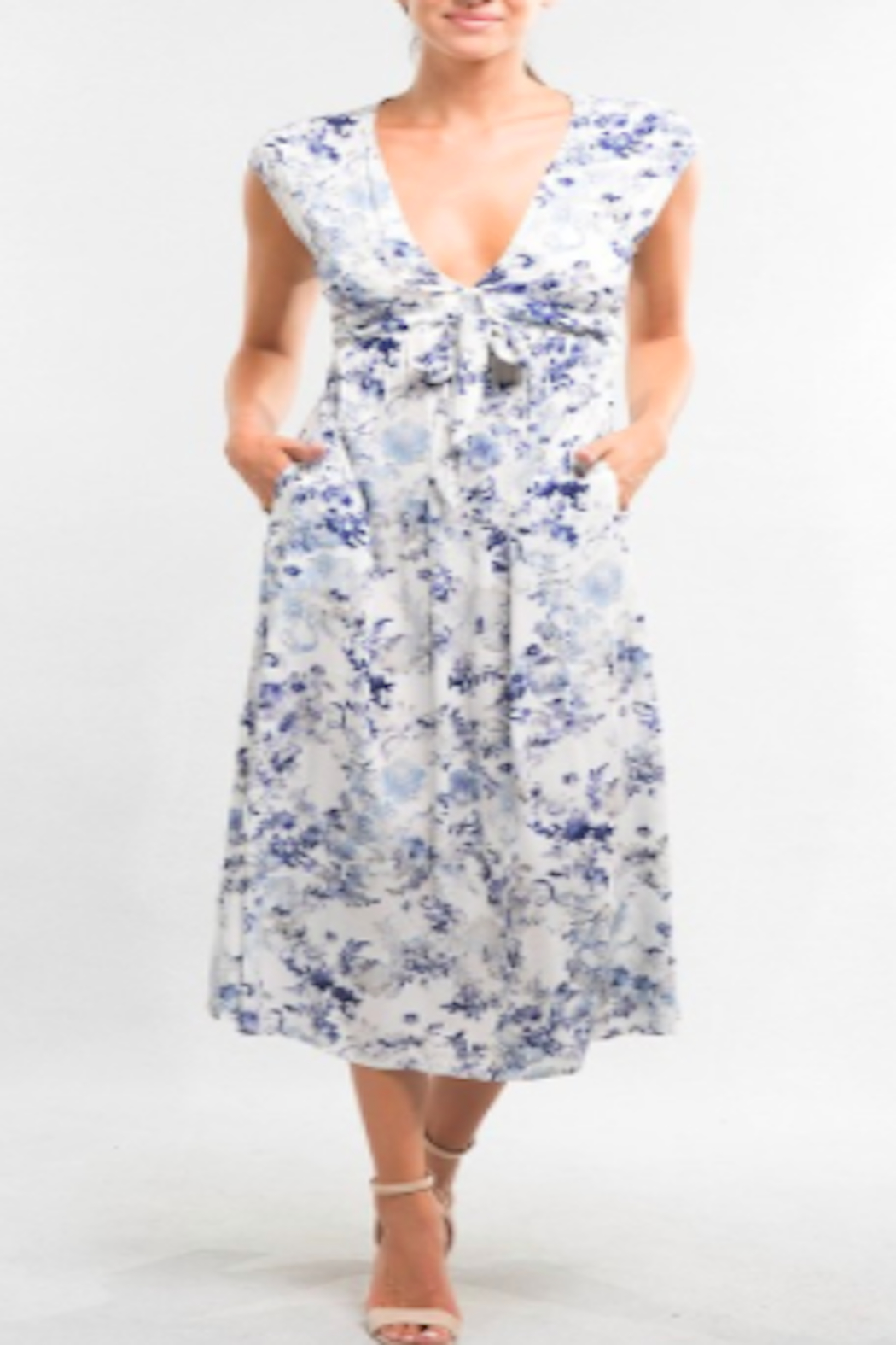 Lovestitch Watercolor Floral Dress - Side Cropped Image