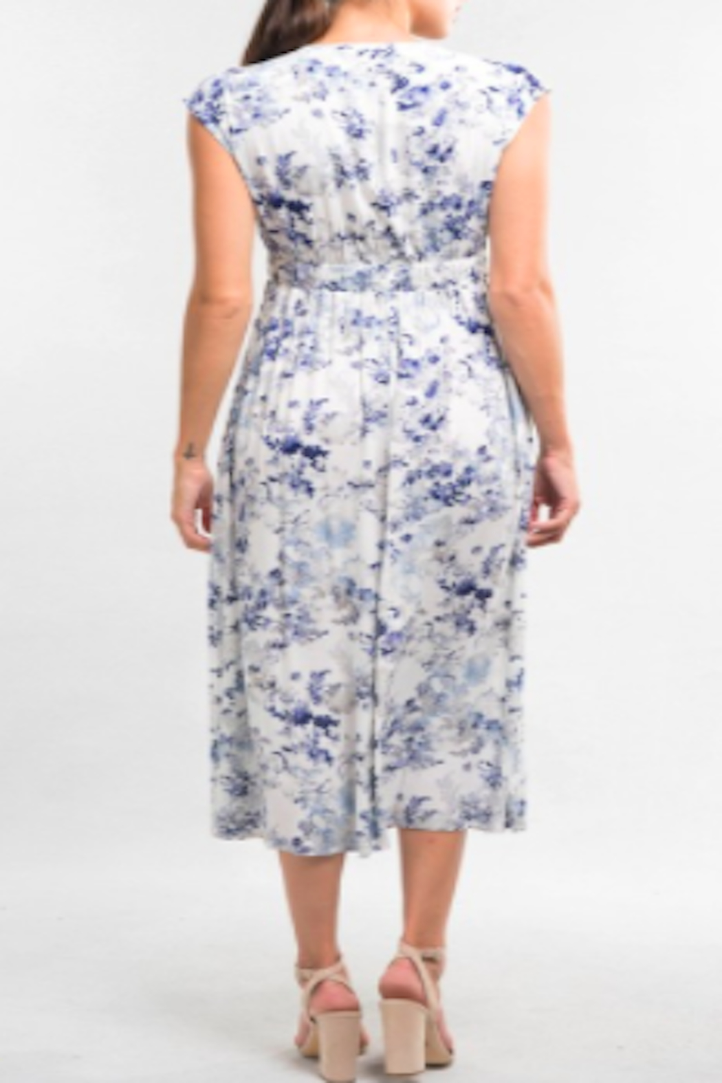 Lovestitch Watercolor Floral Dress - Front Full Image