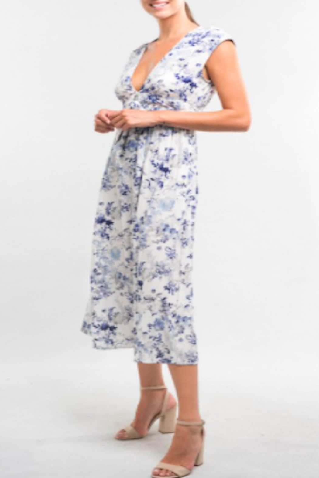 Lovestitch Watercolor Floral Dress - Main Image