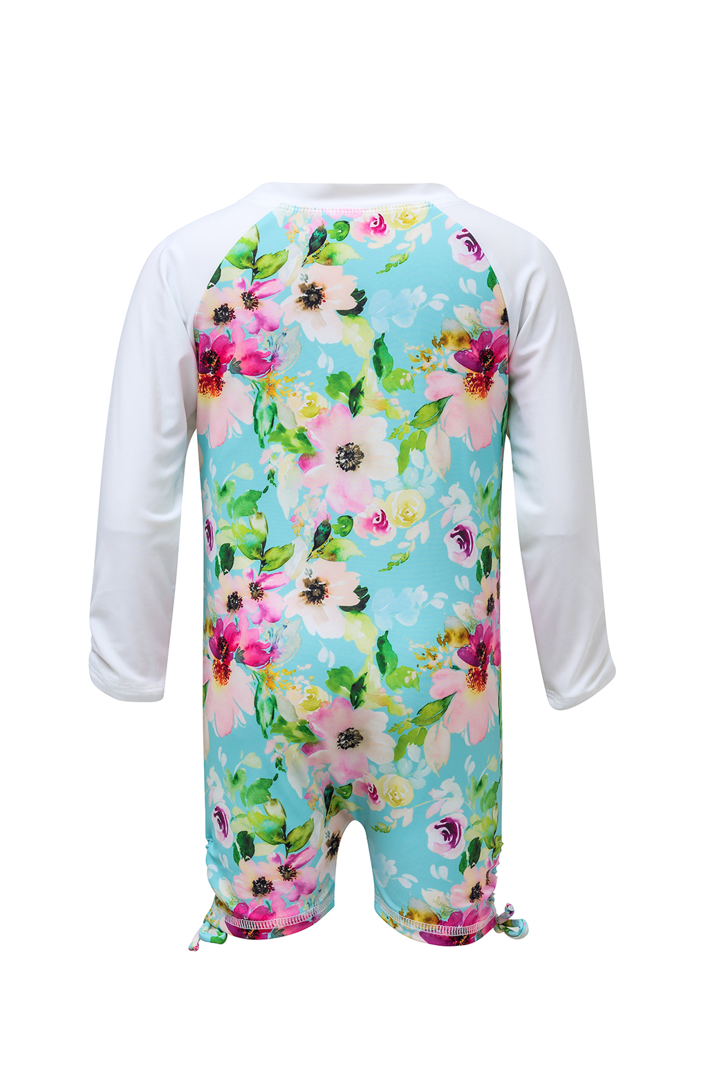 Snapper Rock Watercolor Floral LS Sunsuit - Front Full Image