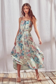 storia Watercolor Floral Maxi Dress - Front cropped