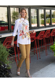 Sharon Young Watercolor Floral Print Shirt - Product Mini Image