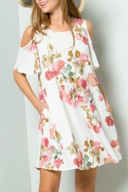 ee:some Watercolor Floral Swing-Dress - Front cropped