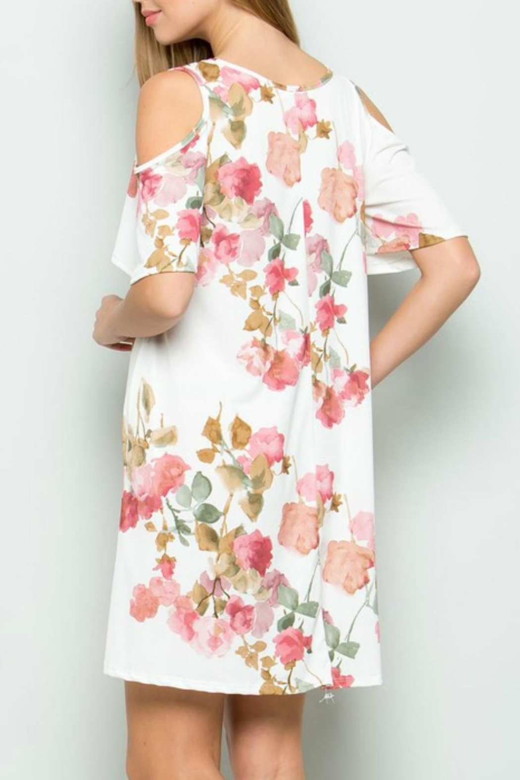 ee:some Watercolor Floral Swing-Dress - Side Cropped Image