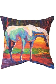 Manual Woodworkers and Weavers Watercolor Horse Pillow - Product Mini Image
