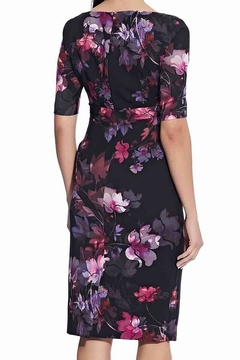 Adrianna Papell Watercolor Lilies Midi Sheath Dress - Alternate List Image
