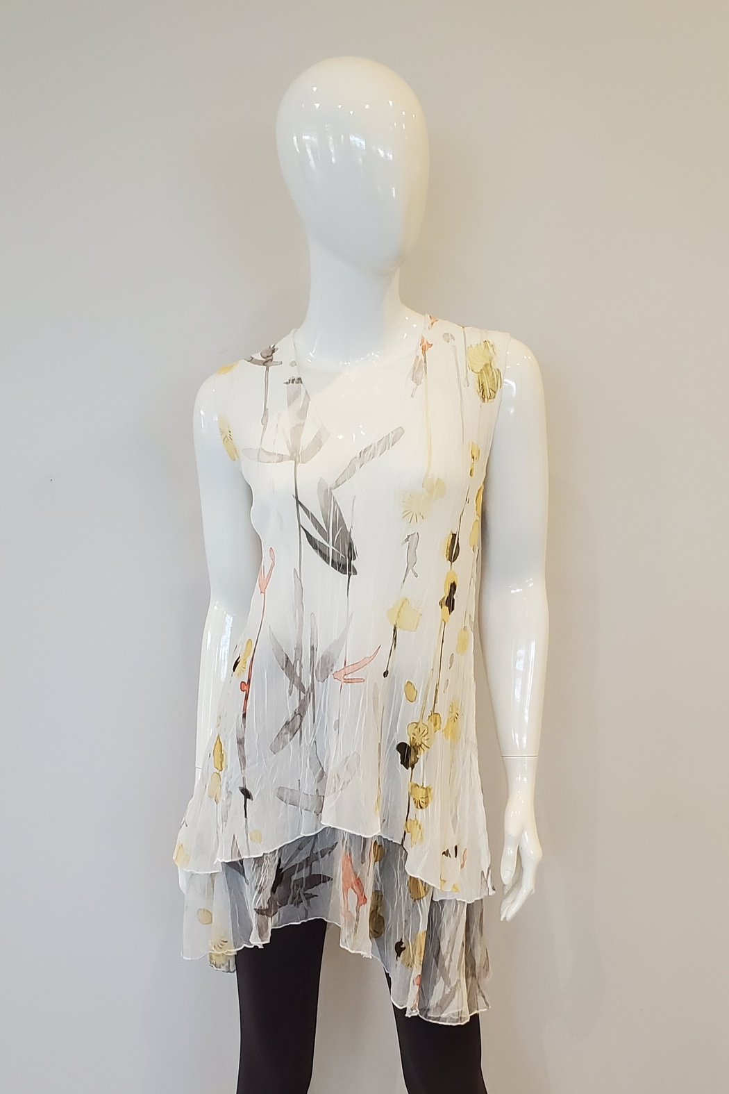 Komarov Watercolor Pleated Tunic - Front Cropped Image