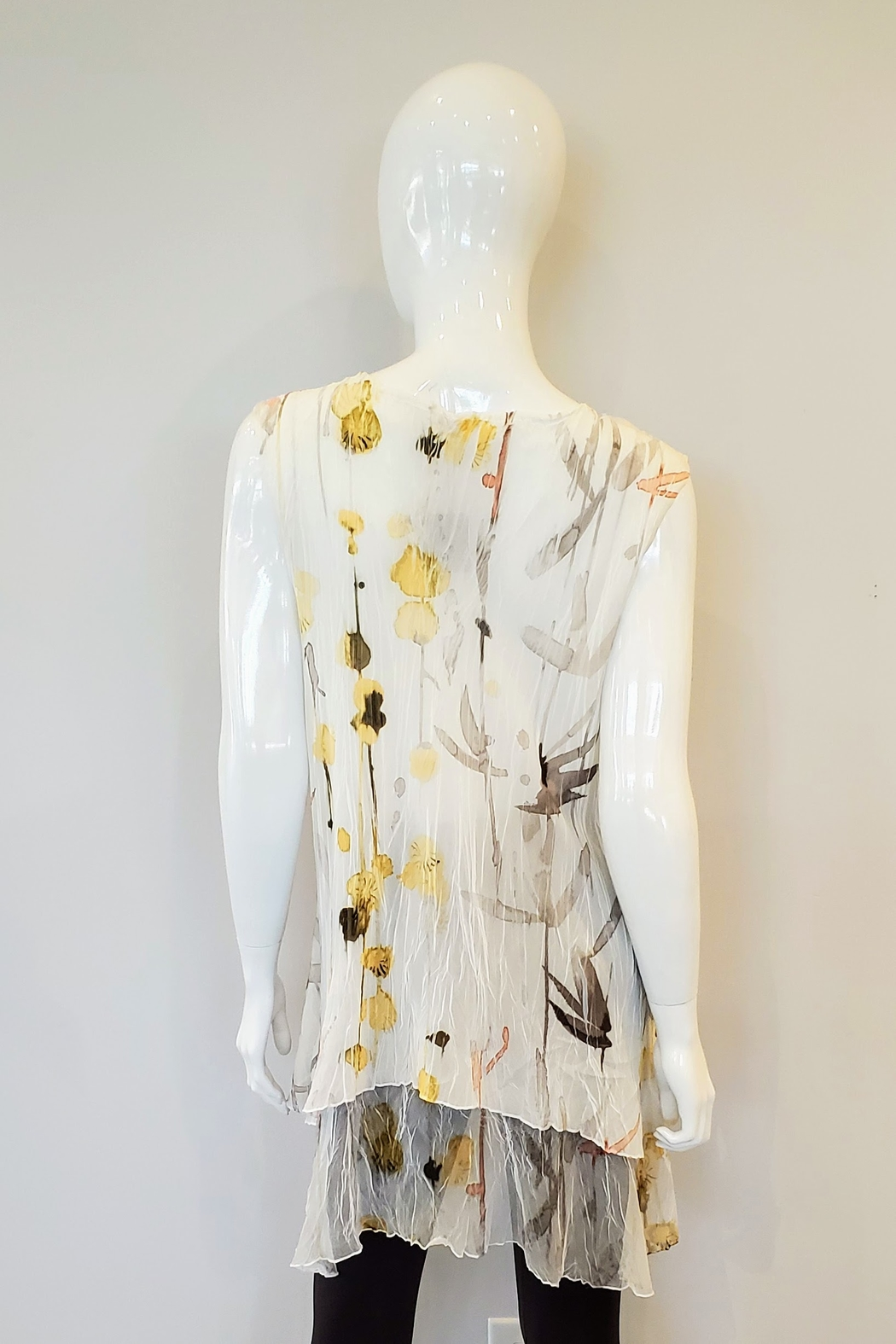 Komarov Watercolor Pleated Tunic - Front Full Image