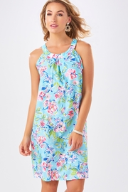 Charlie Paige Watercolor Print Shift Dress - Front cropped