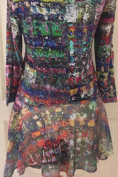 Lynn Ritchie Watercolor tunic top - Alternate List Image