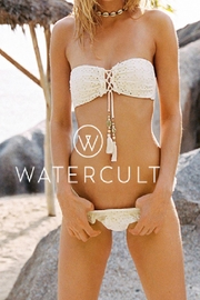 WATERCULT Beachbroidery Bandeau Top - Front full body