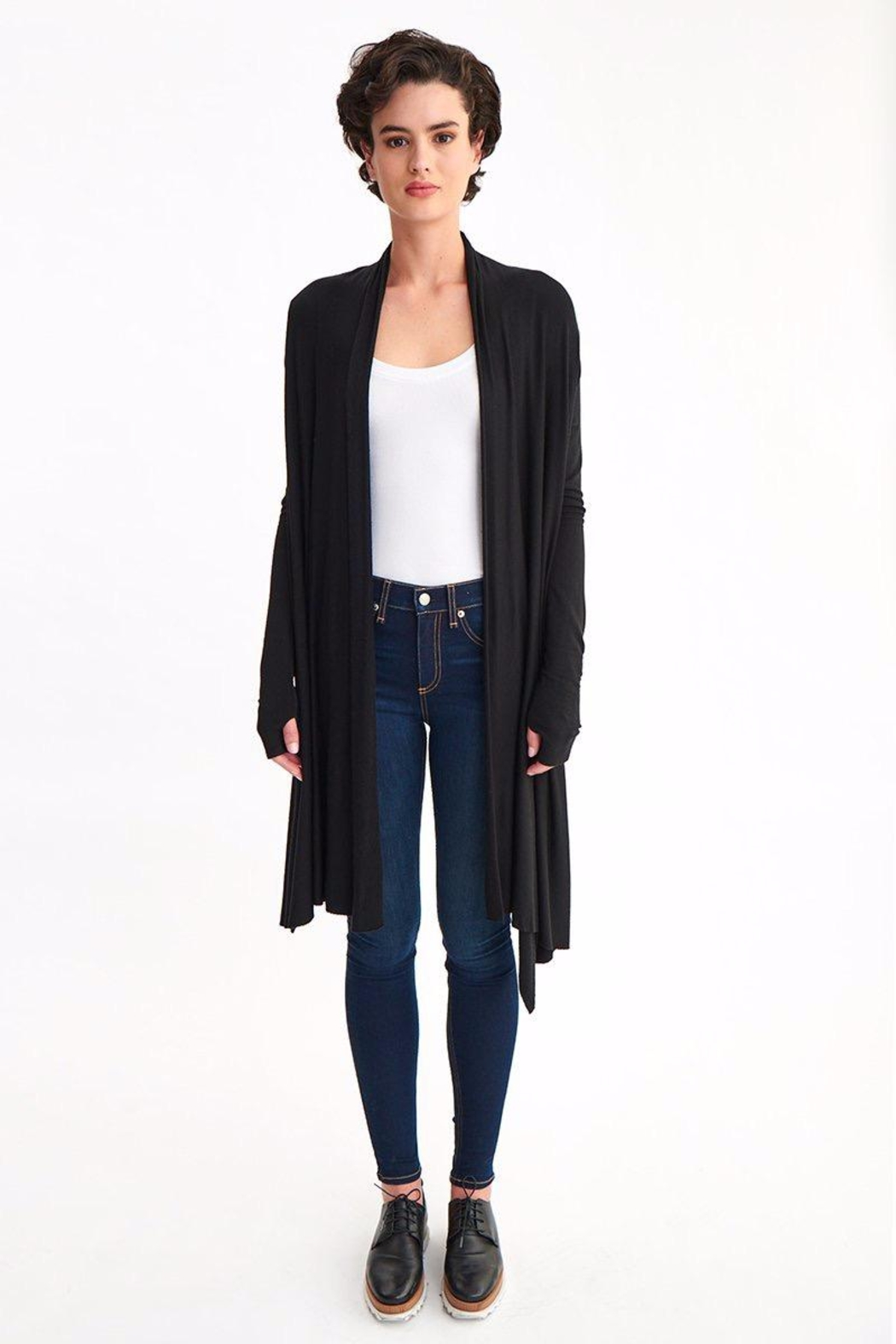 LaMade Waterfall Cardigan - Front Cropped Image