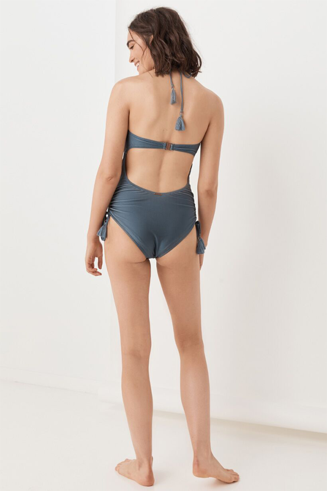 Spell  Waterfall One Piece in Deep Blue - Front Full Image
