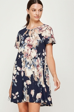 Watermelon Navy Floral Shift - Product List Image