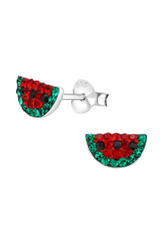 Silver Jewels Watermelon Silver Stud Earrings - Product Mini Image