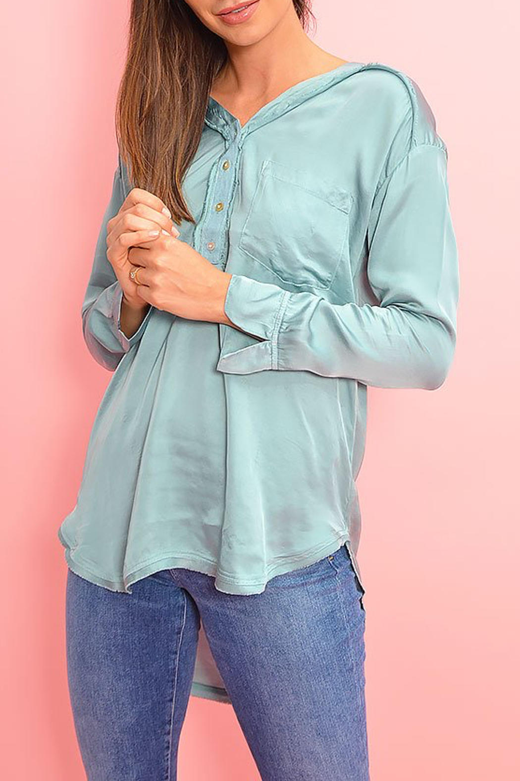YFB On The Road Watson Satin Top - Front Full Image