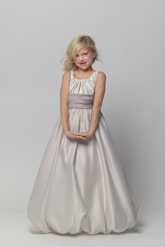 Watters Flower Girl Satin Gown - Alternate List Image