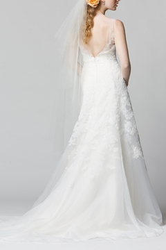 Watters Lace Organza Gown - Alternate List Image