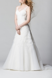 Watters Lace Organza Gown - Product Mini Image