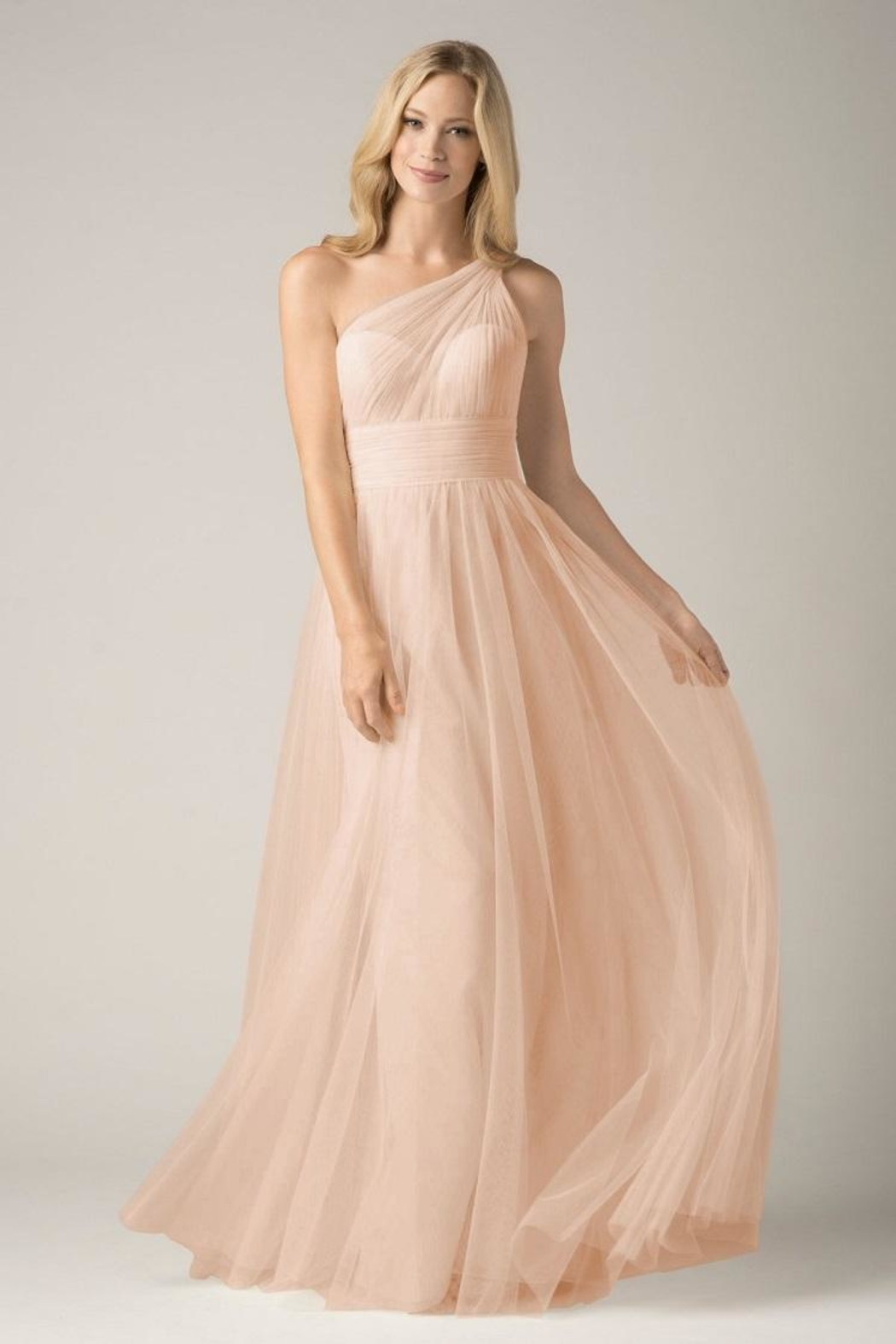 Watters Pleated Oneshoulder Bridesmaid - Main Image