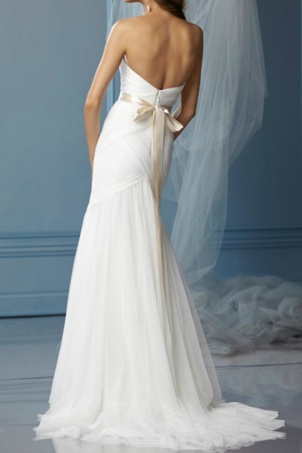 Watters Strapless English Wedding Dress - Front Full Image