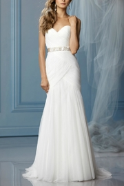 Watters Strapless English Wedding Dress - Front cropped
