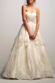 Watters Strapless Silk Organza Dress - Front cropped