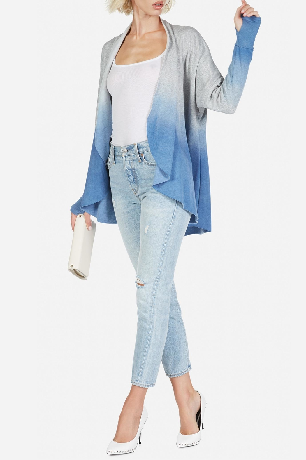Michael Lauren Watts Ombre Cardigan - Front Cropped Image