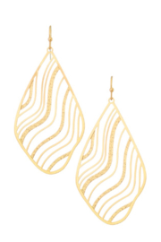 Girly Wave Filigree Earrings - Front cropped