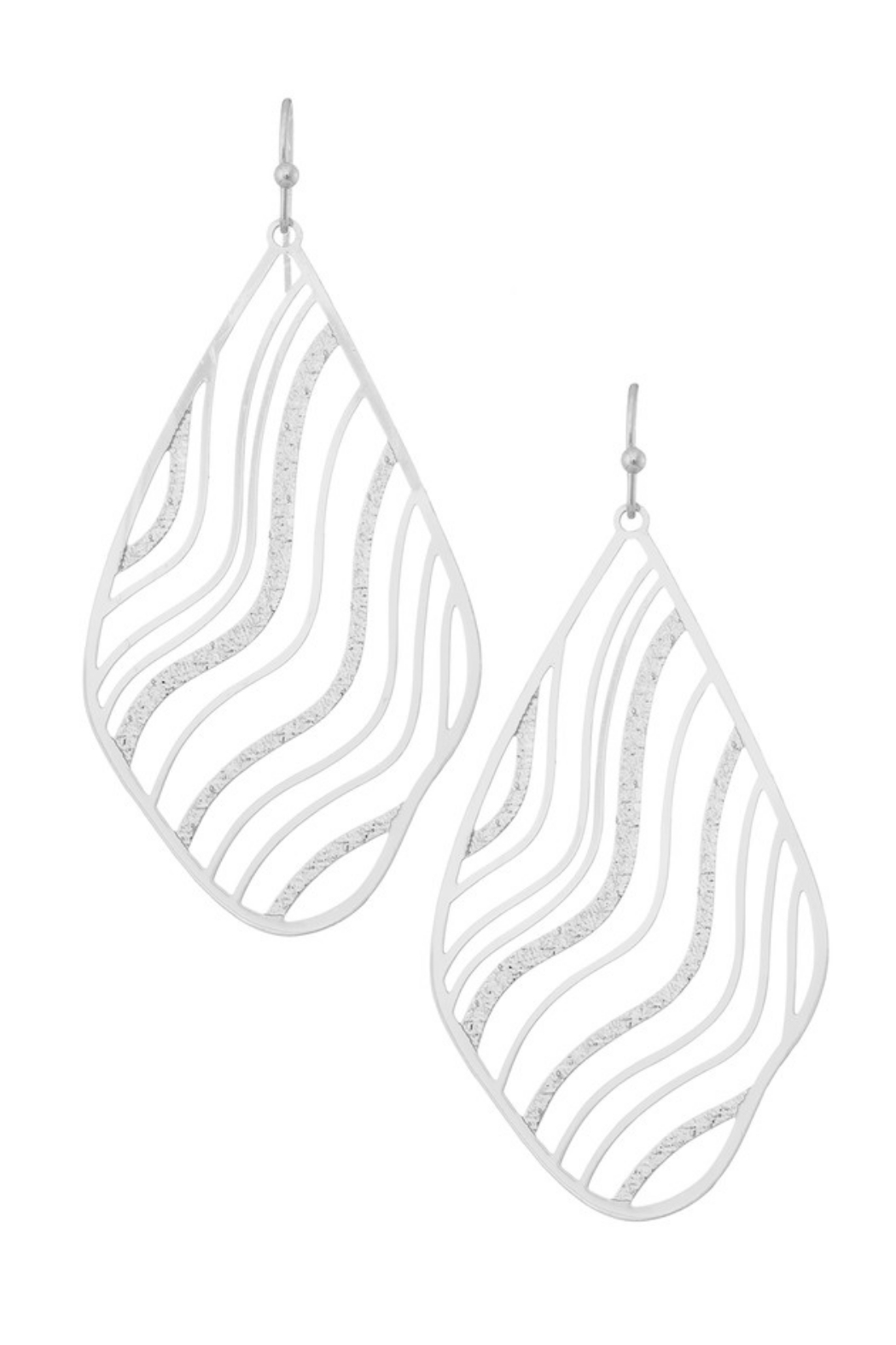 Girly Wave Filigree Earrings - Front Cropped Image