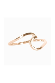 Puravida WAVE RING-ROSE GOLD - Product Mini Image
