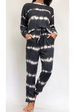 Shoptiques Product: Wave Tie Dye LS & Jogger Lounge Set
