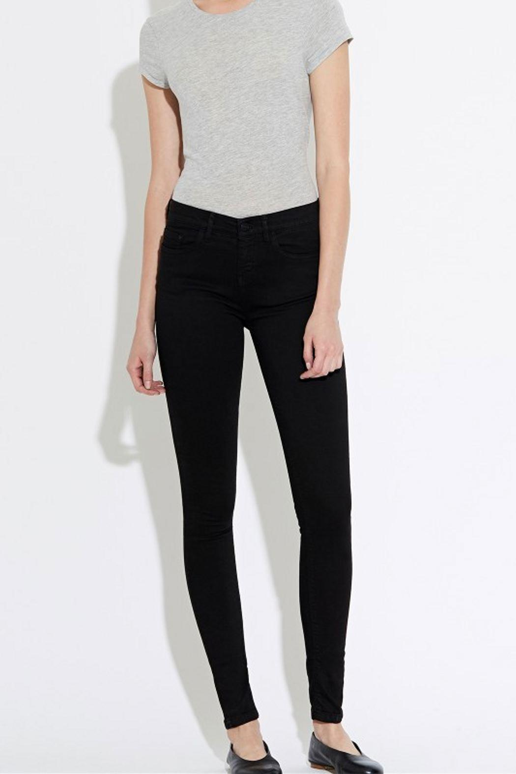 waven Skinny Denims Black - Front Cropped Image