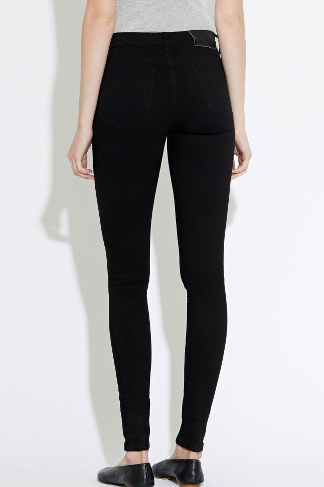 waven Skinny Denims Black - Back Cropped Image