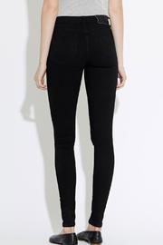 waven Skinny Denims Black - Back cropped