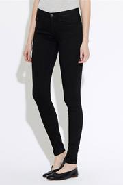 waven Skinny Denims Black - Front full body