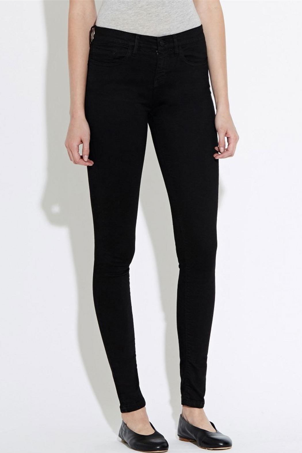 waven Skinny Denims Black - Side Cropped Image
