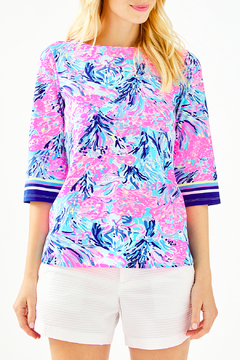 Lilly Pulitzer  Waverly Boat neck long sleeve tunic 001394 - Product List Image