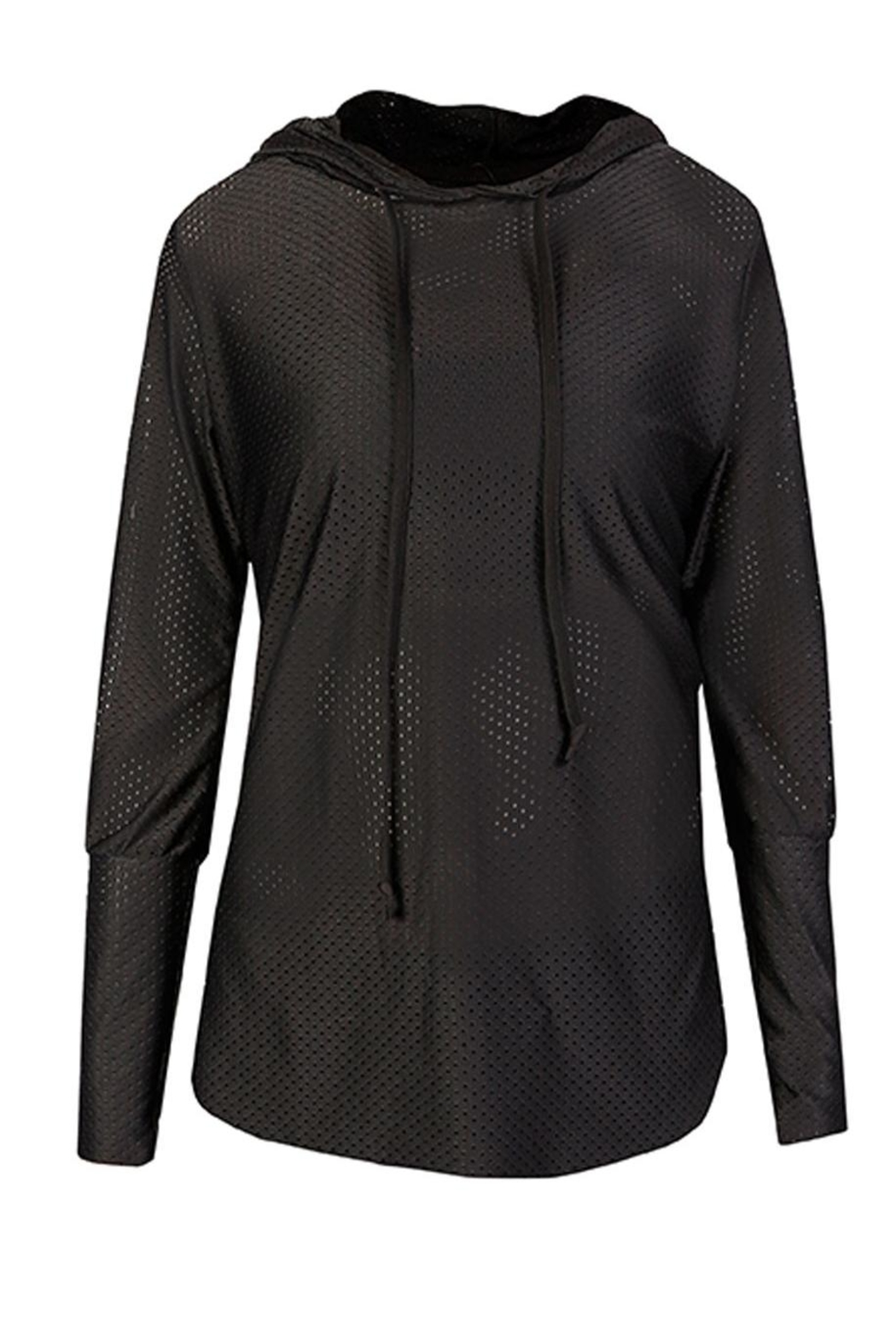 Maaji Waves Mesh-Black Hoodie - Side Cropped Image