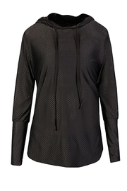 Maaji Waves Mesh-Black Hoodie - Side cropped