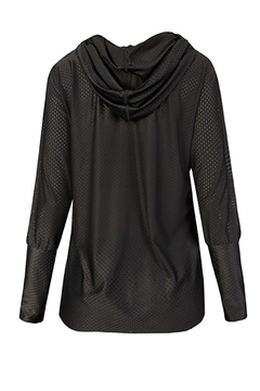 Maaji Waves Mesh-Black Hoodie - Alternate List Image