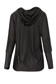 Maaji Waves Mesh-Black Hoodie - Back cropped