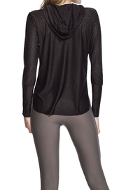Maaji Waves Mesh-Black Hoodie - Front full body