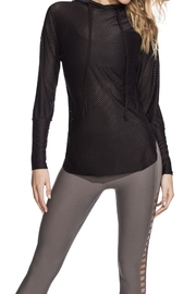 Maaji Waves Mesh-Black Hoodie - Front cropped
