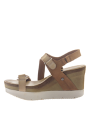 OTBT Wavey Gold Wedge - Front full body