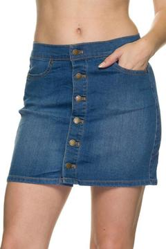 Shoptiques Product: Basic Button Denim Skirt